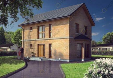 Двухэтажные дома из кирпича